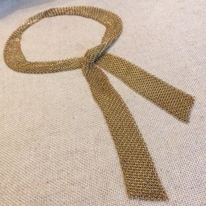 Goldtone Mesh Scarf Chainmail Necklace